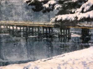 京都冬の渡月橋